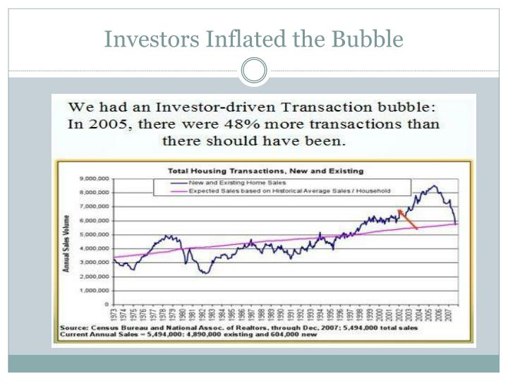 Investors Inflated the Bubble