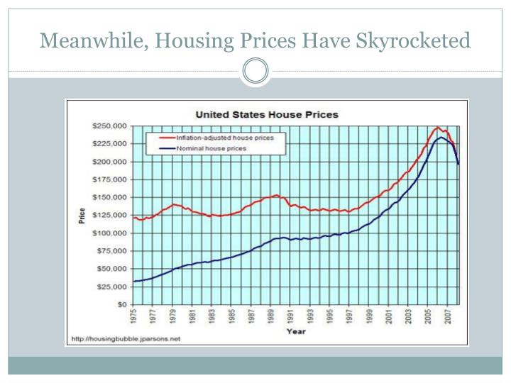 Meanwhile, Housing Prices Have Skyrocketed
