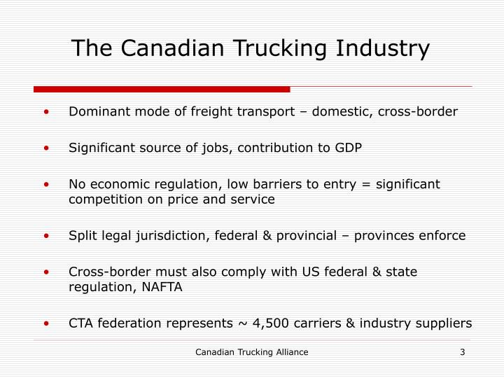 The canadian trucking industry