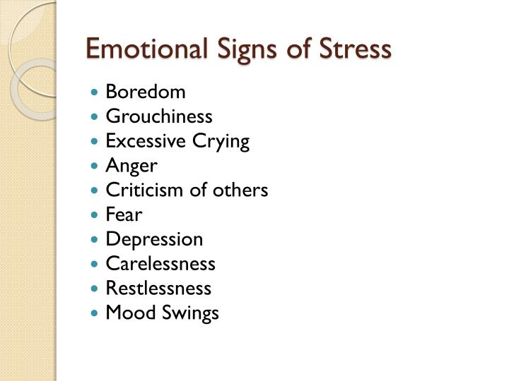 Emotional Signs of Stress