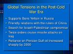 global tensions in the post cold war era