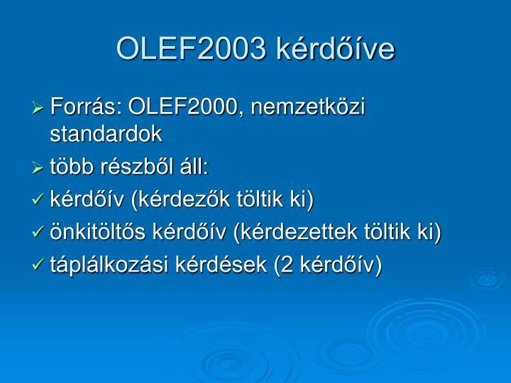 OLEF2003 kérdőíve