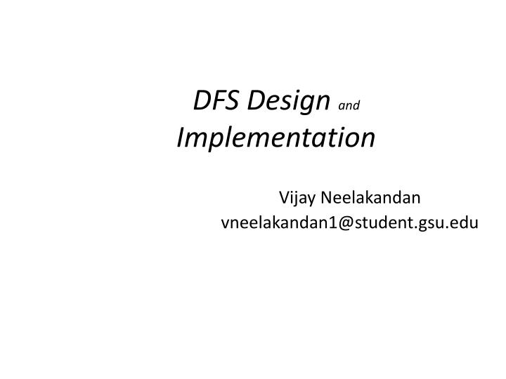 design and implementation of a single