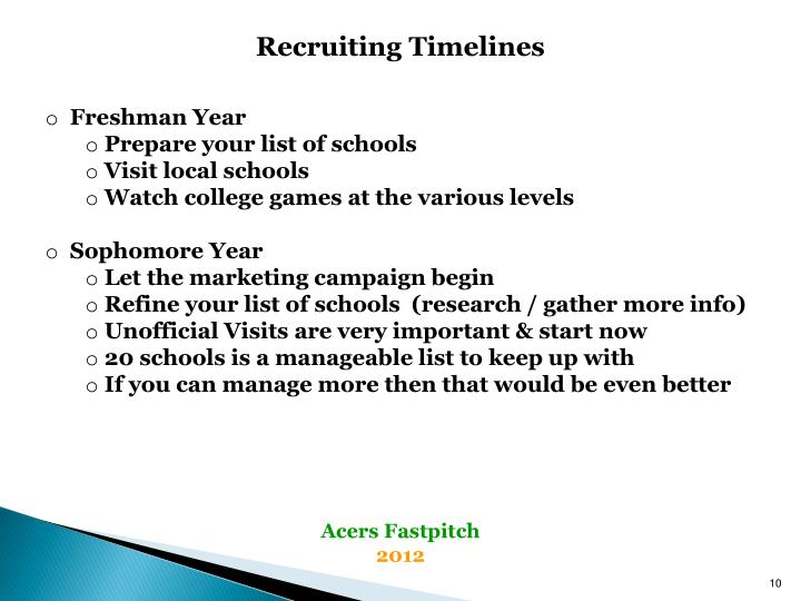 Recruiting Timelines