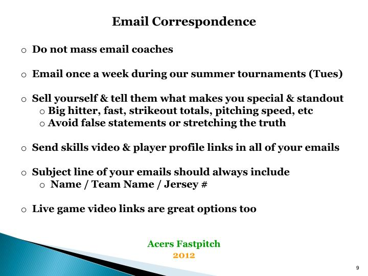 Email Correspondence