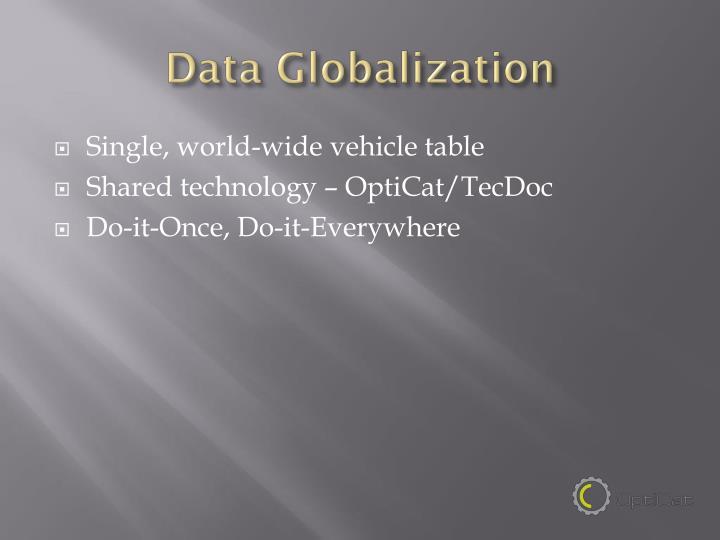 Data Globalization