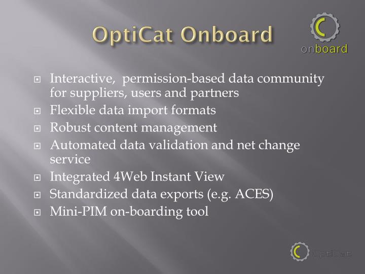 OptiCat Onboard