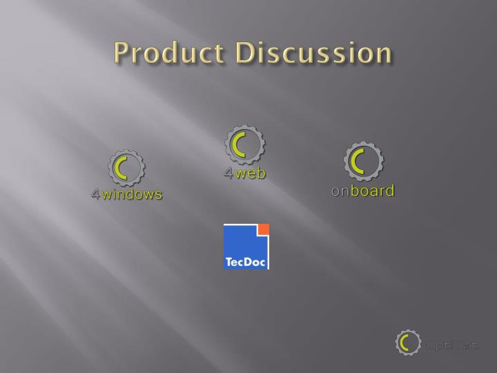 Product Discussion