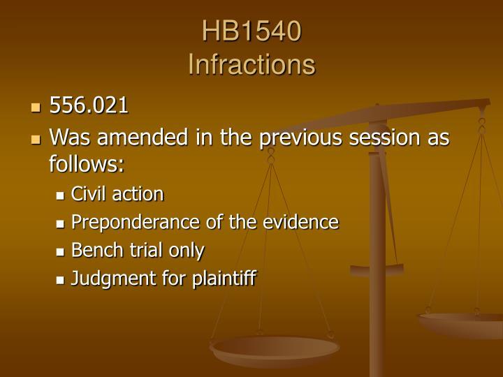 Hb1540 infractions