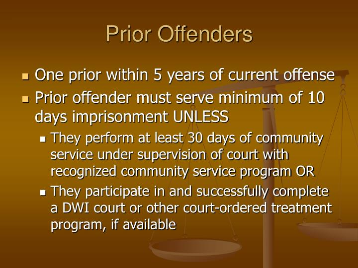 Prior Offenders