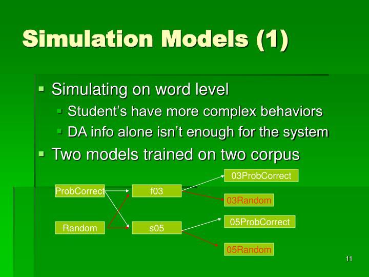 Simulation Models (1)
