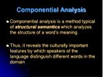 componential analysis1