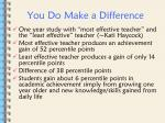 you do make a difference