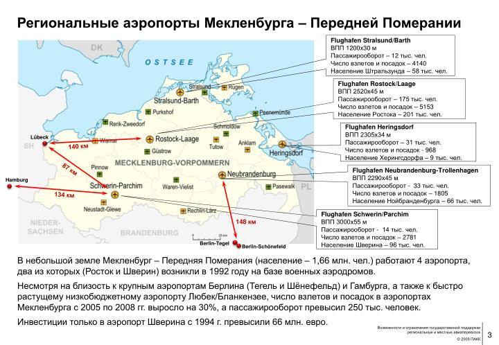 Региональные аэропорты Мекленбурга – Передней Померании