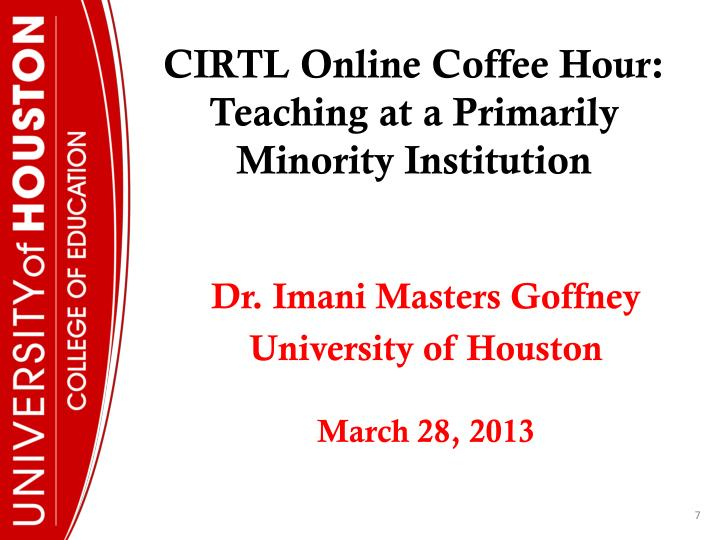 CIRTL Online Coffee Hour: