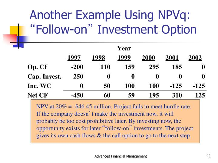 Another Example Using NPVq:
