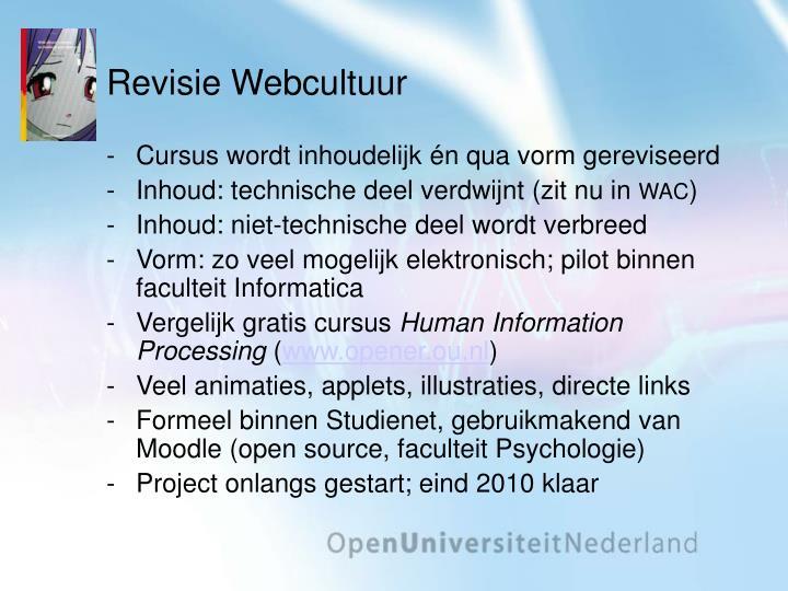 Revisie Webcultuur
