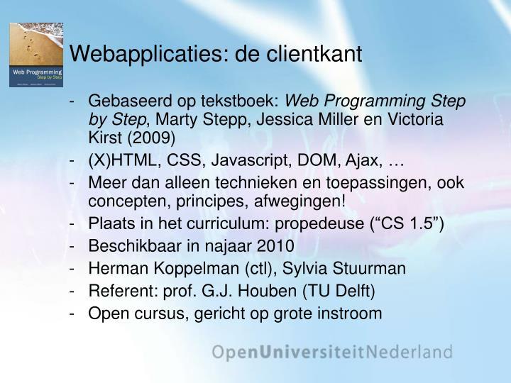 Webapplicaties: de clientkant