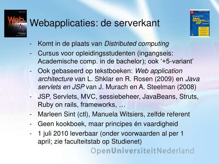 Webapplicaties: de serverkant