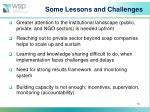 some lessons and challenges