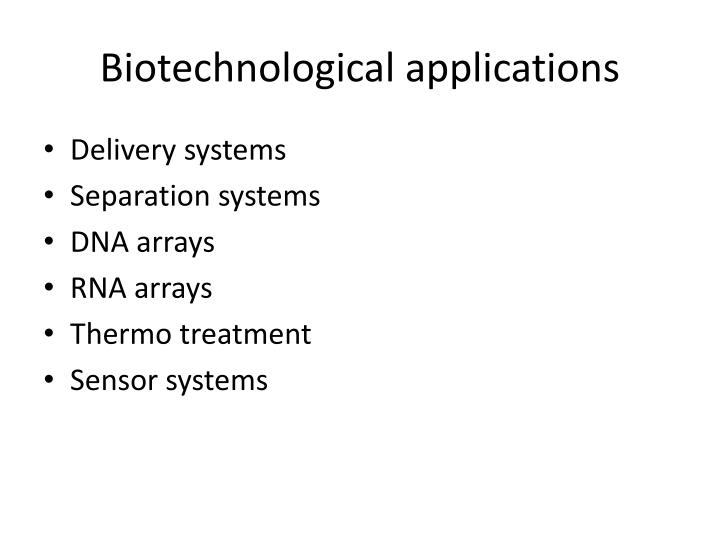 Biotechnological applications