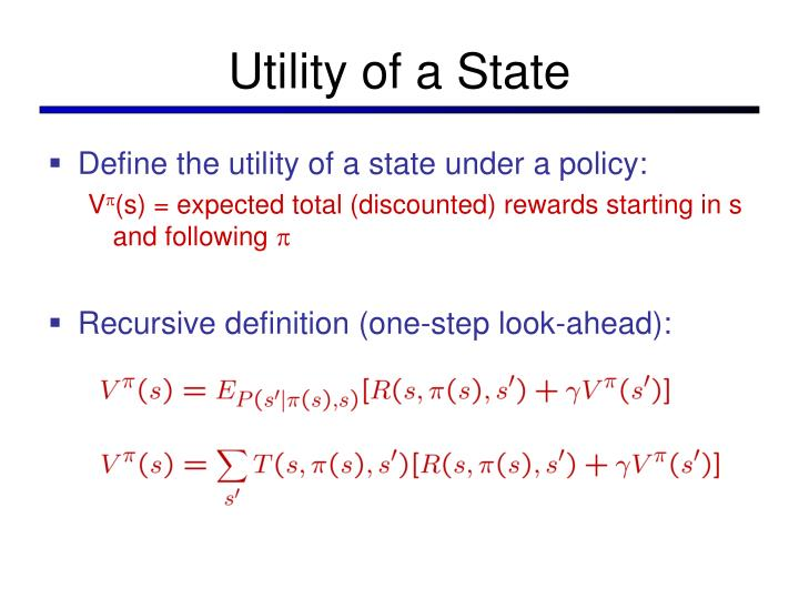 Utility of a State