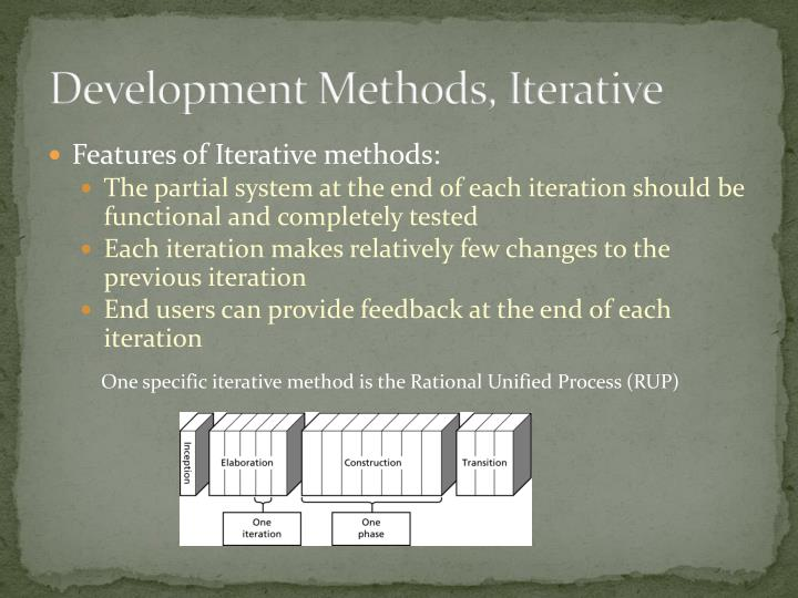 Development Methods, Iterative