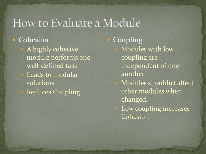 How to Evaluate a Module