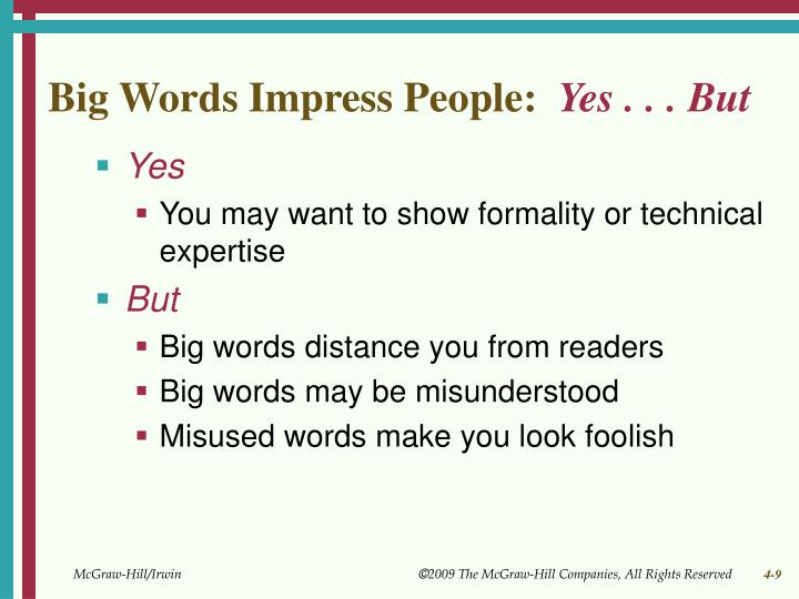 Big Words Impress People: