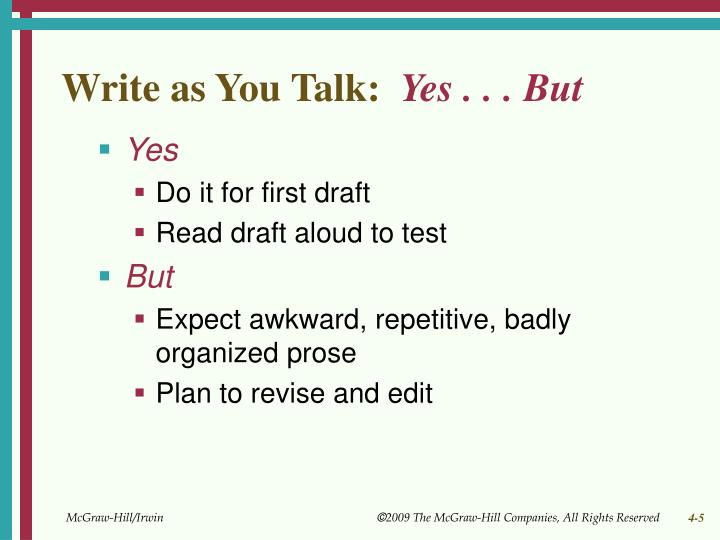 Write as You Talk: