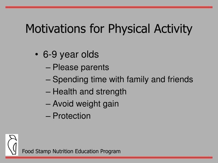 Motivations for Physical Activity