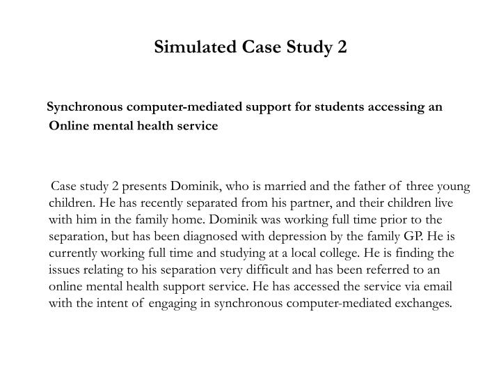 Simulated case study 2