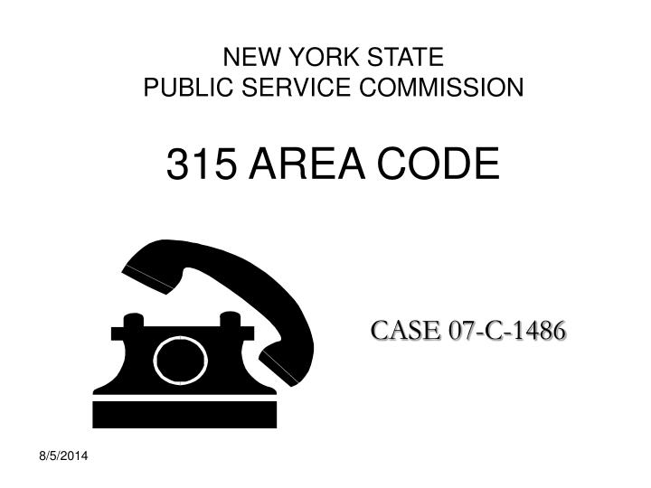 new york state public service commission 315 area code