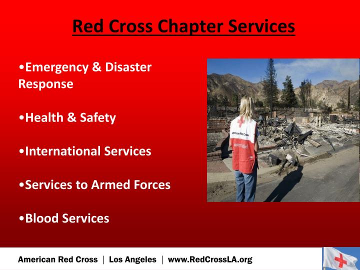 Red Cross Chapter Services