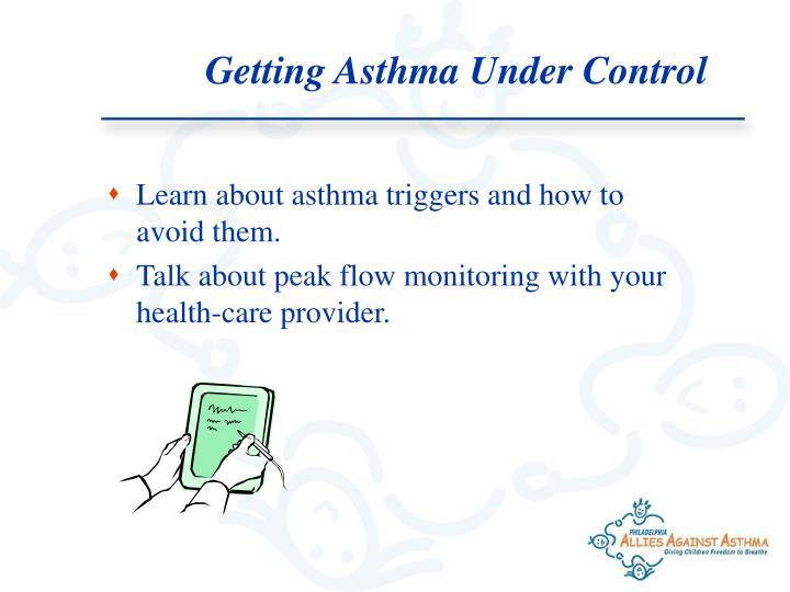 Getting Asthma Under Control