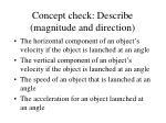 concept check describe magnitude and direction1