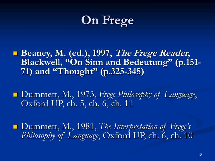 On Frege