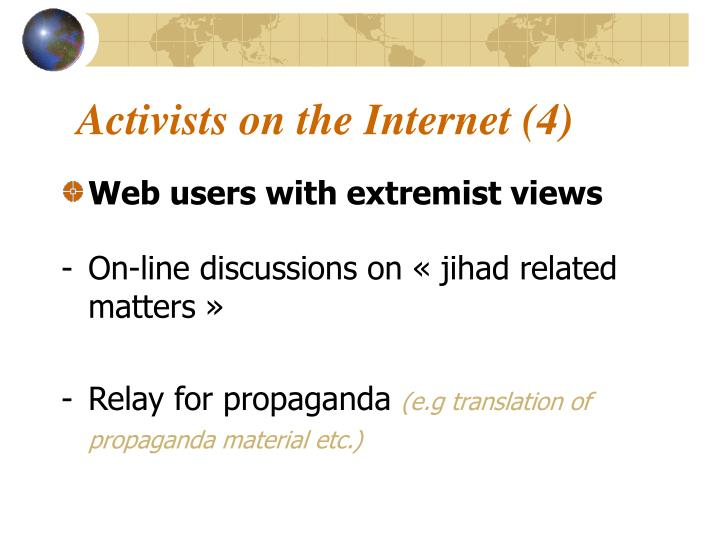 Activists on the Internet (4)