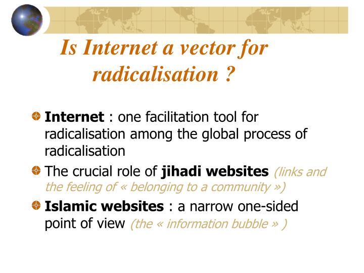 Is Internet a vector for radicalisation ?