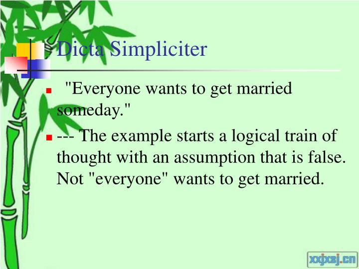 Dicta Simpliciter