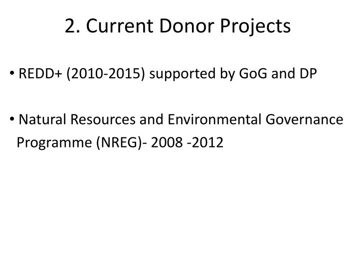 2. Current Donor Projects