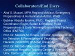 collaborators end users1