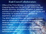end users collaborators
