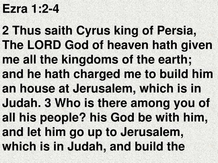 Ezra 1:2-4