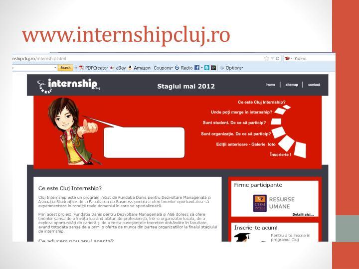 Www internshipcluj ro