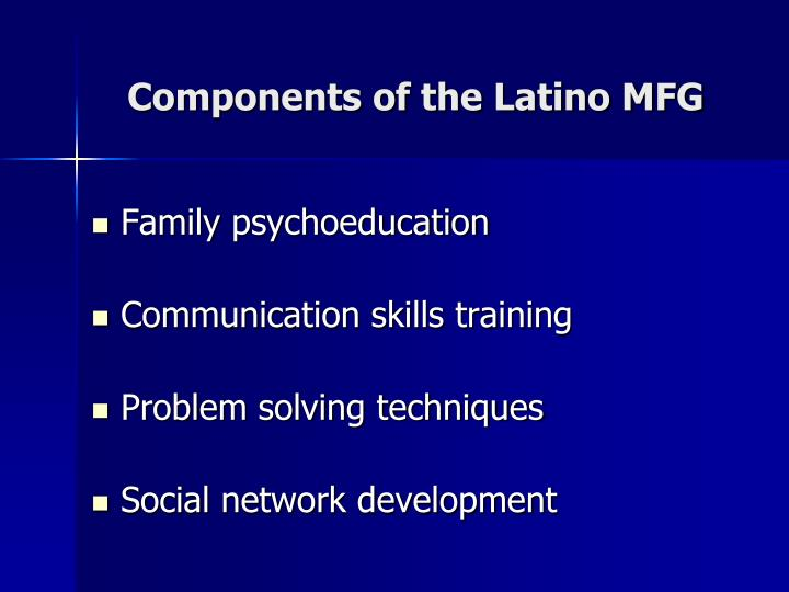 Components of the latino mfg