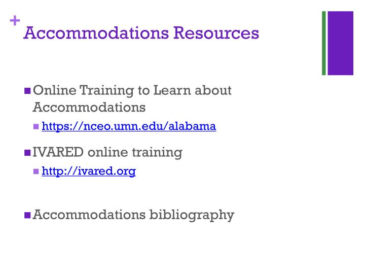 Accommodations Resources