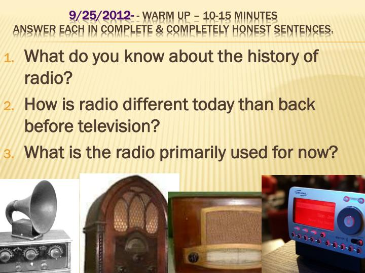 What do you know about the history of radio?