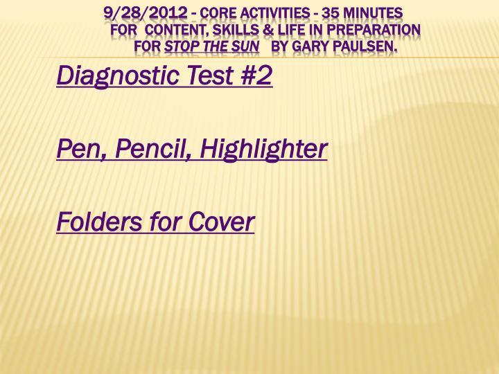 Diagnostic Test #2