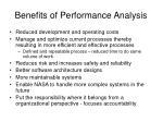 benefits of performance analysis